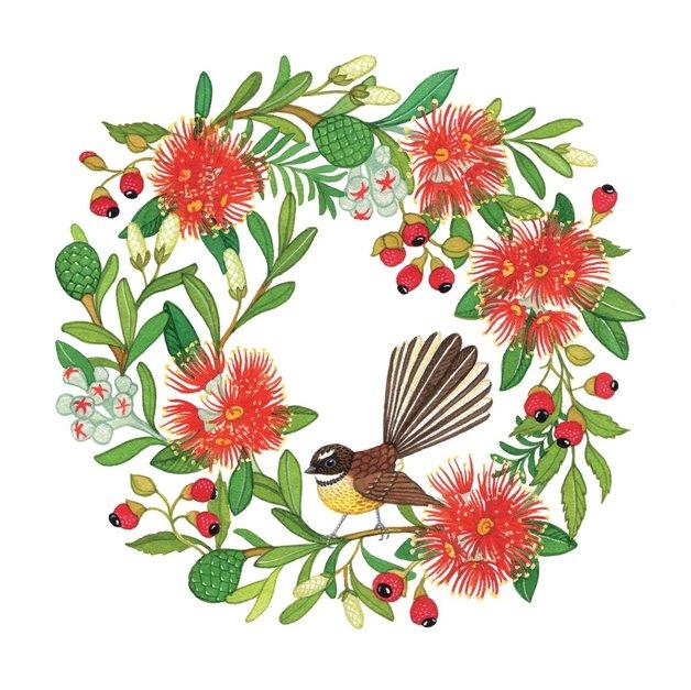 Madam Treacle: Christmas Wreath - Square Greeting Card