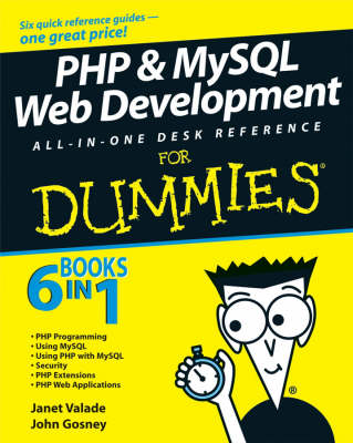 PHP and MySQL Web Development All-in-one Desk Reference for Dummies by Janet Valade image