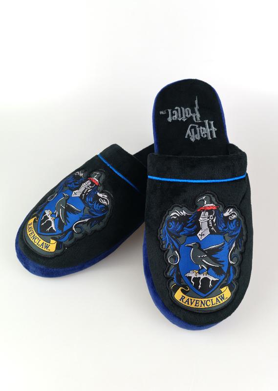 Harry Potter: Ravenclaw Mule Slippers - Black & Blue Men's Large (UK 8-10)