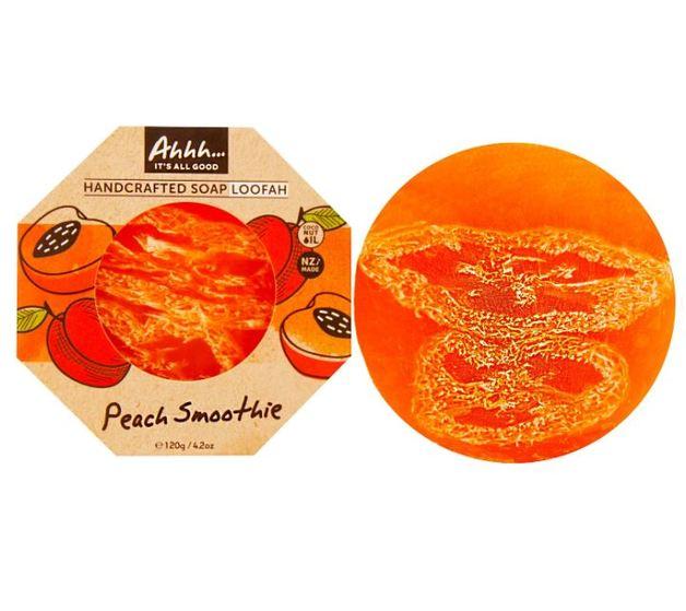 Ahhh Soaps Loofah Soap - Peach Smoothie (120g)
