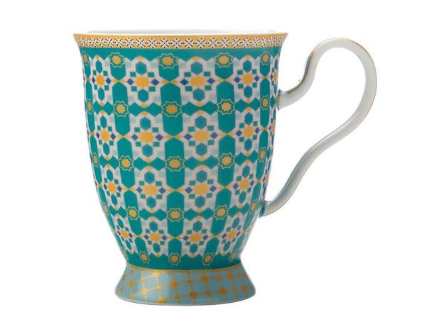 Maxwell & Williams Teas & C's: Kasbah Footed Mug - Mint (300ml)