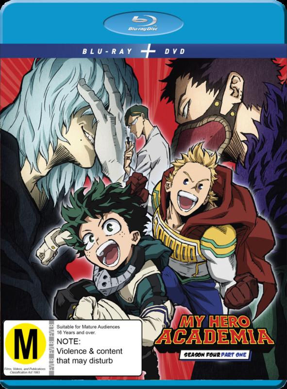 My Hero Academia: Season 4 - Part 1 (DVD / Blu-ray Combo) on Blu-ray