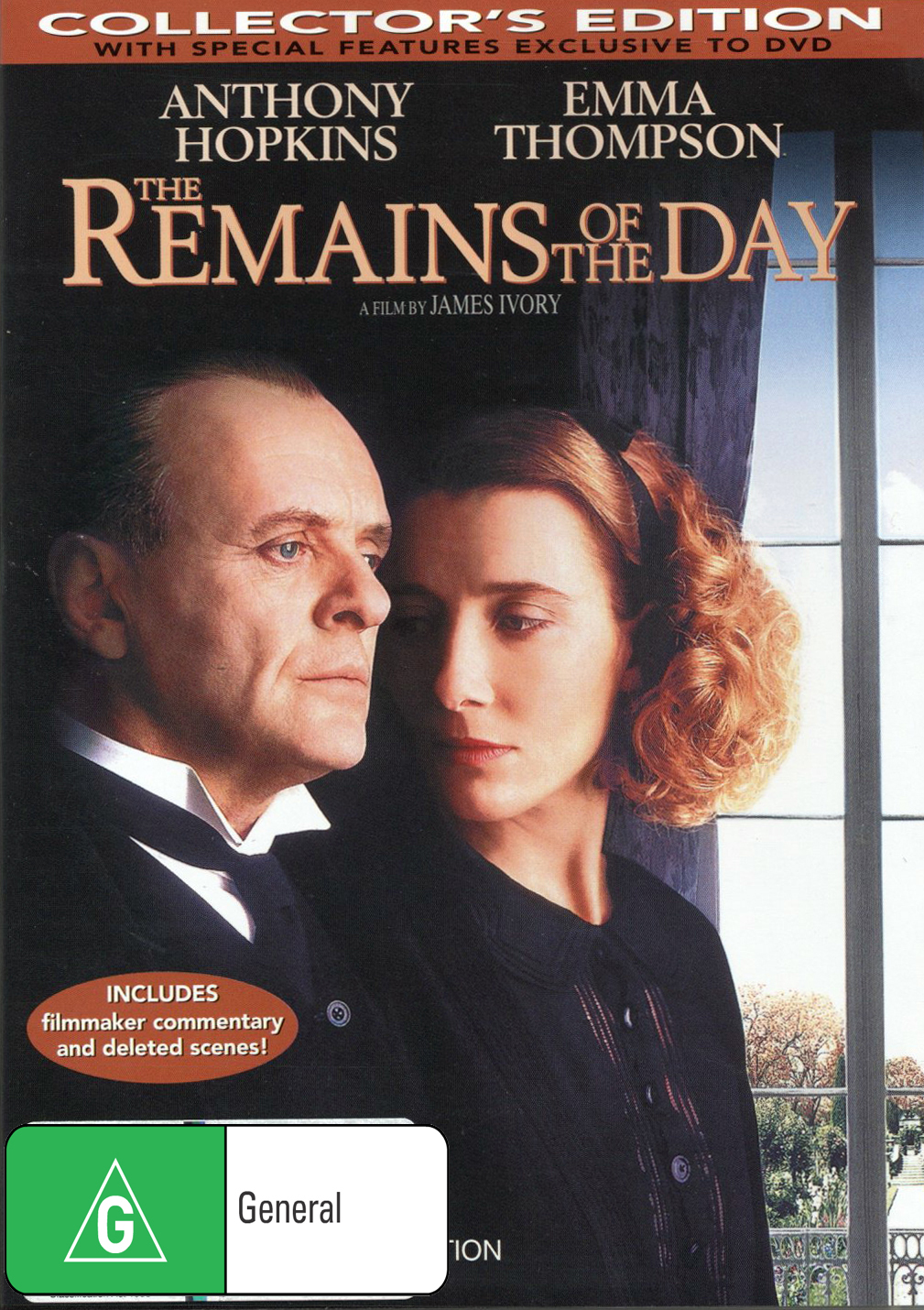 The Remains Of The Day DVD image