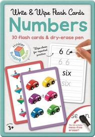 Building Blocks: Write and Wipe Numbers Flashcards