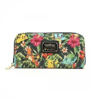 Loungefly Pokemon Tropical Starter Zip Around Wallet image
