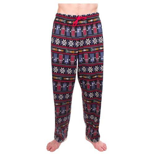 Doctor Who: Ugly Christmas Print - Pajama Pants (Small)