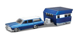 Maisto Tow N' Go: Die-cast Vehicle Set - Classic Blue/White