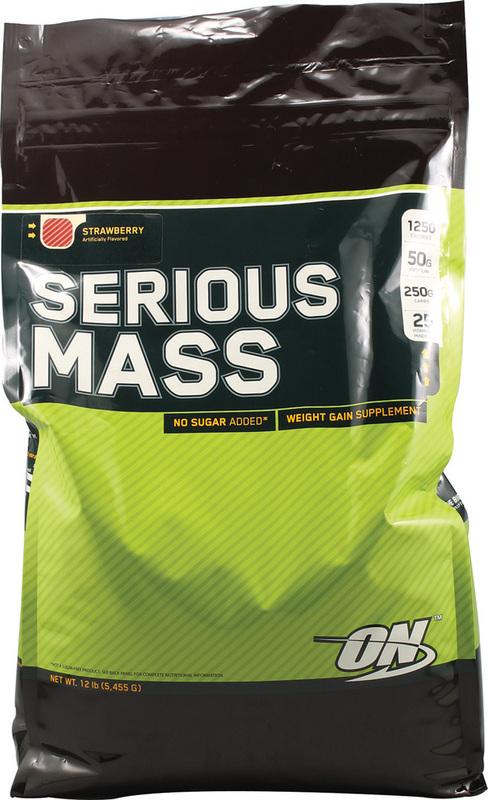 Optimum Nutrition Serious Mass - Strawberry (5.44kg)