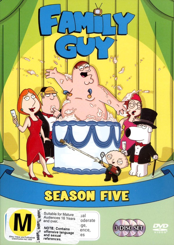 Family Guy - Season 5 (3 Disc Set) on DVD image