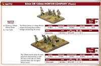82mm or 120mm Mortar Company (Plastic)