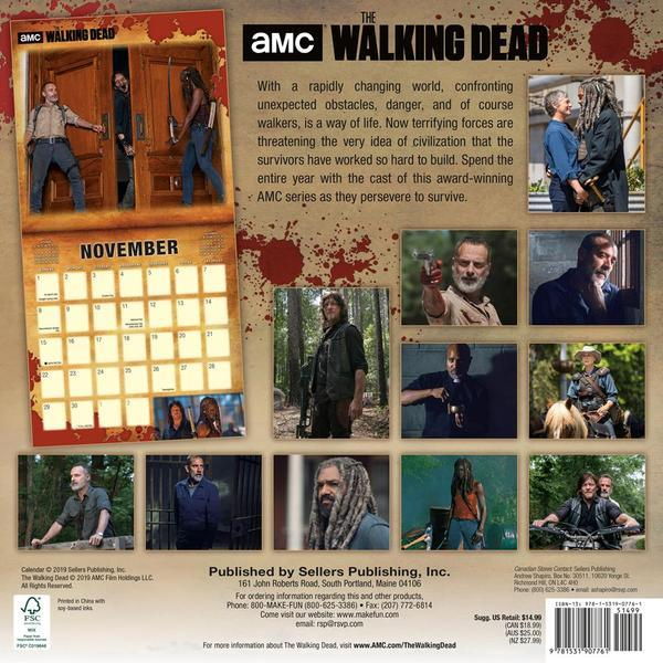 The Walking Dead AMC 2020 Square Wall Calendar by AMC image