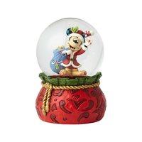 Disney Traditions Santa Mickey Mouse Snow Globe by Jim Shore