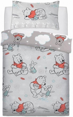 Disney: Reversible Duvet Cover Bedding Set - Winnie the Pooh Clouds (Single)
