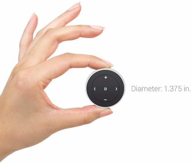 Car Bluetooth Media Button Audio Steering Wheel Remote Control - Silver