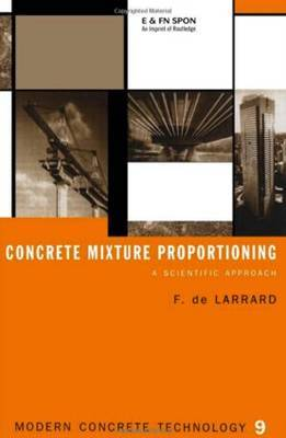 Concrete Mixture Proportioning by Francois De Larrard image