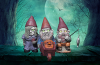 Mini Zombie Gnomes Set
