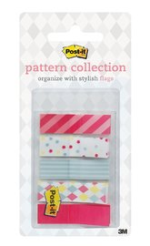 Post-it Pattern Flags 12mm x 43mm On-the-Go Dispenser Pack - Carnival (100 Pack)