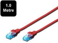 1m Digitus UTP Cat5e Network Cable - Red