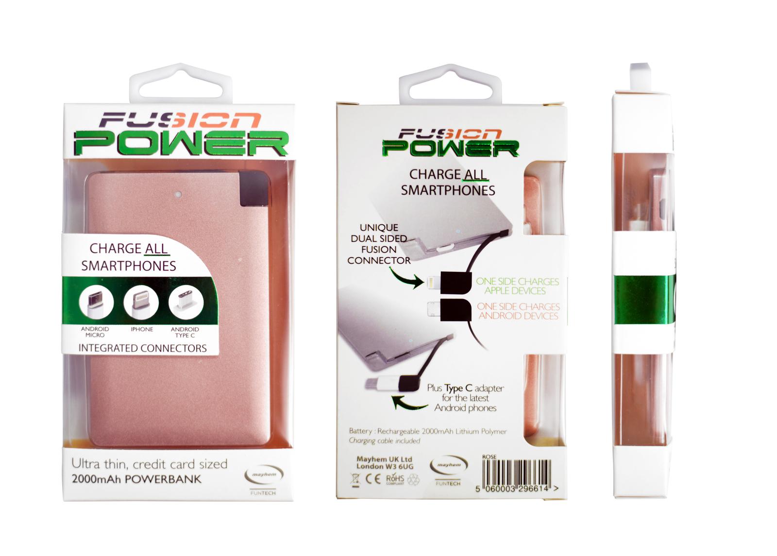 Mayhem Fusion 2000mAh Rose Power Bank image