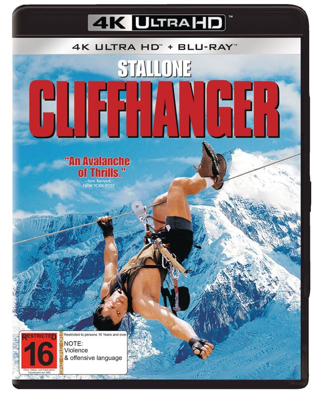 Cliffhanger on UHD Blu-ray