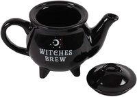 Witches Brew Ceramic Black Teapot