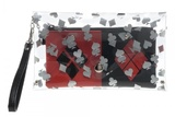 DC Comics - Harley Quinn Clear Envelope Zip Around Wallet