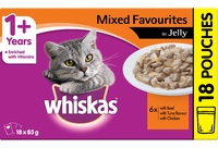 Whiskas Mixed Favourites in Jelly (85g x 18)