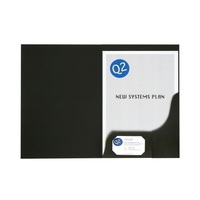 A4 Matt Presentation Folders - Black (Single)