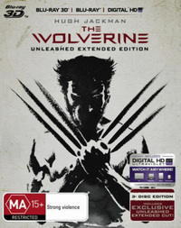 The Wolverine: Unleashed Extended Edition (Blu-ray 3D/Blu-ray 2D/Ultraviolet) DVD