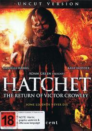 Hatchet III: The Return of Victor Crowley on DVD