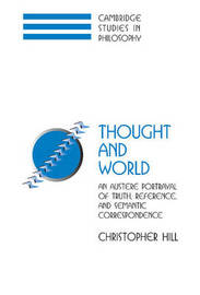 Cambridge Studies in Philosophy by Christopher S. Hill image