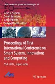 Proceedings of First International Conference on Smart System, Innovations and Computing