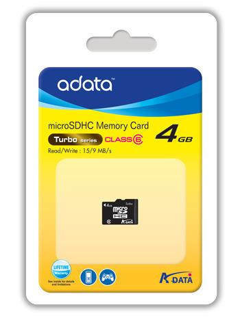 Adata Class 6 Micro SDHC card 4GB