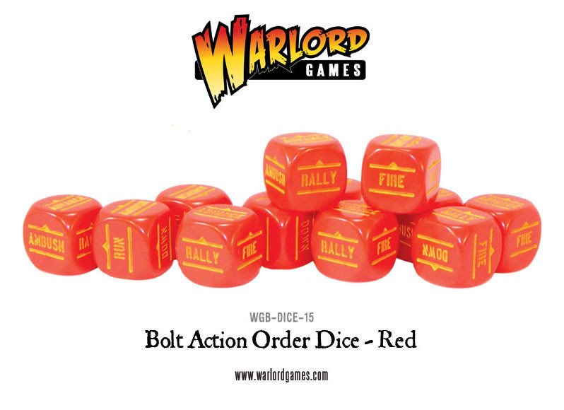 Bolt Action Orders Dice Red (12) image