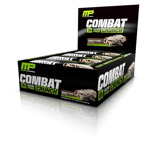 MusclePharm Combat Crunch Bar - Cookies and Cream (Box of 12)