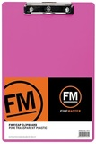 FM Clipboard A4 (Neon Pink)