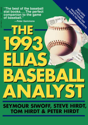 Elias Baseball Analyst by Seymour Siwoff