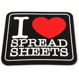 I Love Spreadsheets Coaster