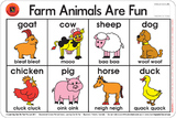 Learning Can Be Fun - Farm Animals Are Fun - Placemat