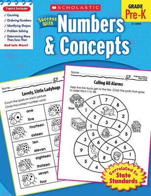 Scholastic Success with Numbers & Concepts, Grade Pre-K by Danette Randolph