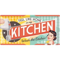 Say it 50's Retro Metal Sign - At Home in My Kitchen