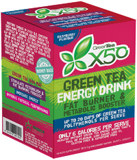 Green Tea X50 - Raspberry (30 Sachets)