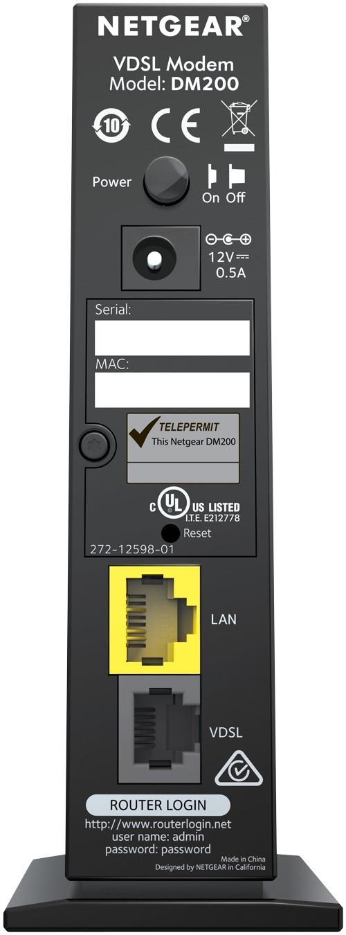 Netgear: DM200 Broadband High-Speed VDSL/ADSL Ethernet Modem image