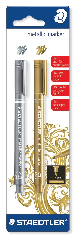 Staedtler Fibre Tip Pens Metallic (2 Pack) image