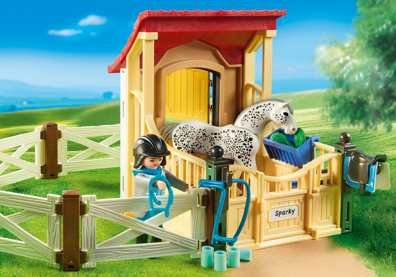 Playmobil: Country - Horse Stable with Appaloosa (6935) image