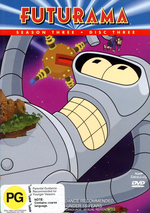 Futurama - Season 3 Disc 3 on DVD image