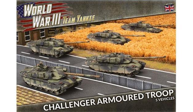 Team Yankee: Challenger Armoured Troop (x5 Plastic)
