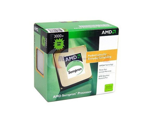 AMD 35W Sempron EE 3000+ 256KB 64Bit SKT AM2  1600MHZ Hyper Transport