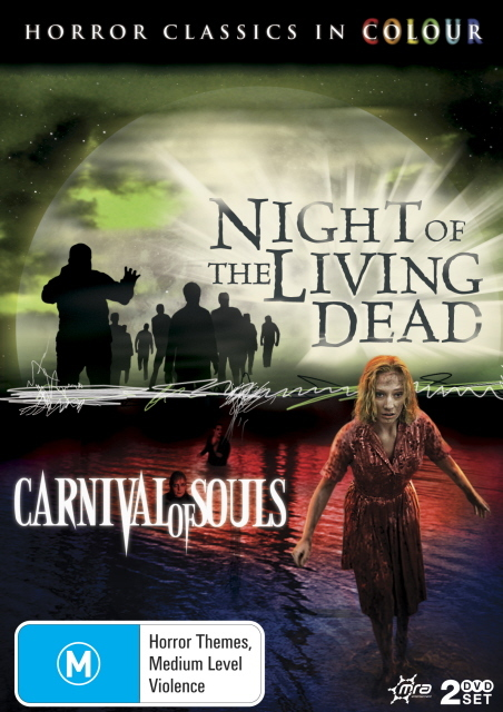 Night Of The Living Dead / Carnival Of Souls (Horror Classics In Colour) (2 Disc Set) on DVD
