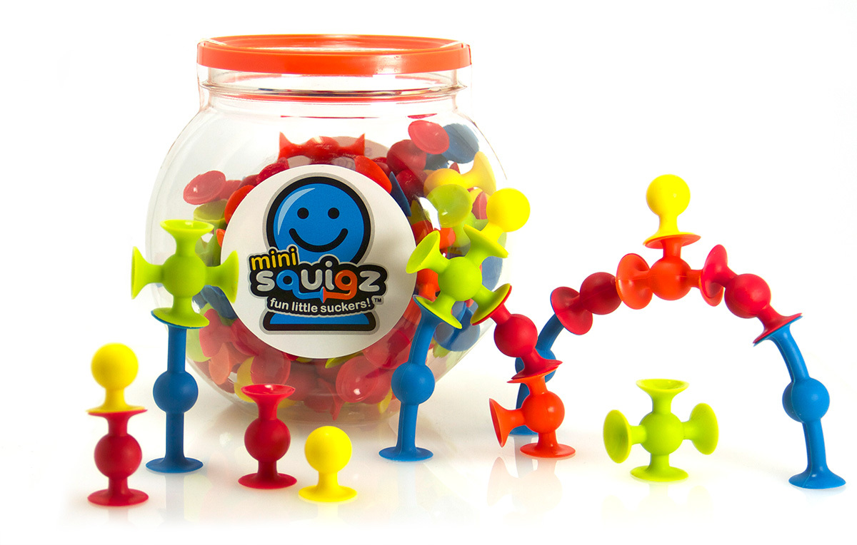 Fat Brain Toys: Squigz: Mini-squigz - (75pc) Set image